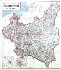 Washington State Road Map by Road Map Of The State Of Roads In Poland In 1936 37 Maps Pinterest