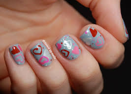 valentine heart nail design valentine nail designs 2014