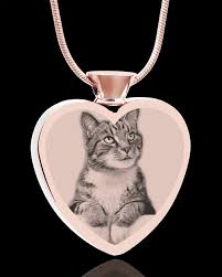 steel heart necklace images Stainless steel heart rose gold plated photo engraved pet jpg