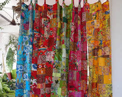 Multi Colored Curtains Colorful Curtains Etsy