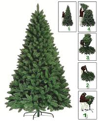 5ft 6ft 7ft premium green artificial tree pine metal