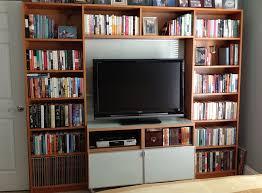 Black Billy Bookcase Wall Units Astonishing Bookcase Entertainment Unit Enchanting