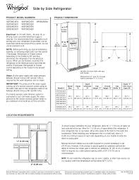 download free pdf for whirlpool wsf26d4ex refrigerator manual