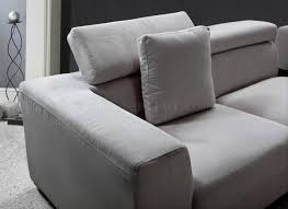 microfiber fabric for sofa microfiber modern sectional sofa w adjustable headrests