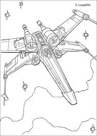 star wars coloring pages xwing fighter luke skywalker