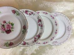 mismatched plates wedding vintage mismatched china cake dessert bread plates wedding tea