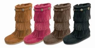 s boots with fringe moccasin children s 3 layer suede fringe boot