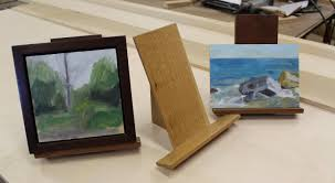 how to make a simple table top easel art lesson 4 how to make easel for small painting youtube