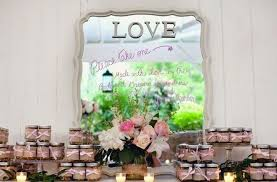 wedding backdrop vintage wedding guest favors with mirror backdrop