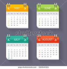 realistic spiral calendar template blank empty stock vector