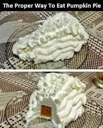 proper way to eat pumpkin pie thanksgiving memes memes