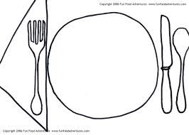 43 empty plate coloring page kids table placemats place mat table