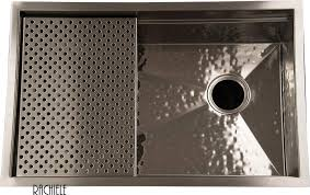 Custom Made Stainless Steel Under Mount And Workstation Sinks By - Hammered kitchen sink