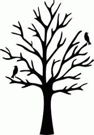 leafless tree silhouette to paint in the bathroom and put hooks