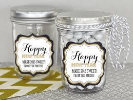 Mason Jar Party Favors Personalized New Years Eve Party Mini Mason Jars
