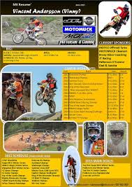 motocross madness 1 vincent andersson mx vinny u0027s resume u0027