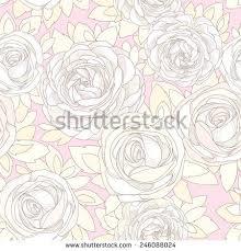 floral seamless pattern vintage rose wallpaper stock vector