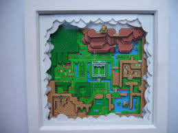 Map Of Hyrule Legend Of Zelda Hyrule 3d Map Diorama Art Snes Super Nintendo By