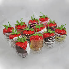 fruit dipped in chocolate deluxe set of 12 strawberries dipped in chocolate just dough it