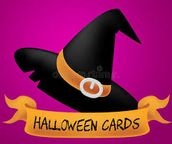 cards indicates trick or treat and celebration stock