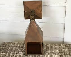 Craftsman Sconce Vintage Stained Wall Sconce Etsy