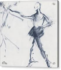 ballet sketch tendu front drawing by beverly brown prints