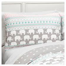elephant stripe quilt and sham set full queen 5 piece