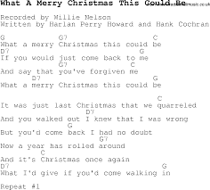 carol song lyrics with chords for what a merry