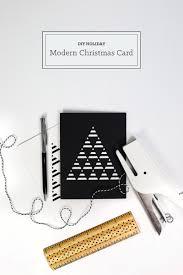 modern christmas cards diy modern christmas card tinselandtrim