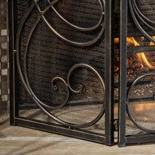 Selling Home Decor Best Selling Home Decor Oxford 3 Panel Iron Fireplace Screen