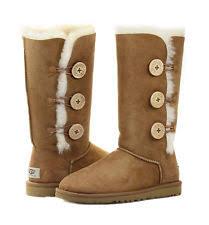 womens ugg triplet boot ugg australia bailey button triplet sheepskin ankle boots