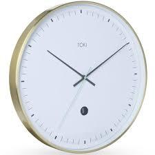Silent Wall Clock Buy Pearl Time Aluminium Lcd Digital Date Wall Clock Silver 35cm