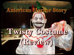 halloween mask clown ahs twisty the clown costume review youtube