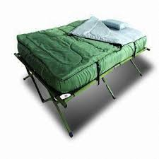 double camping beds suitable for two persons and outdoor kingray