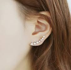 ear cuff earrings string of shines rhinestone ear cuffs pin one piecing