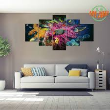 fish decorations for home aliexpress com buy 5 piece set canvas art 5 panels marine fish