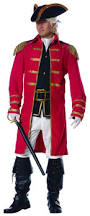 colonial patriot british soldier red coat halloween costume