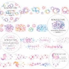 washi tape designs 4 designs bow rainbow music moon lace stars cartoon japanese washi