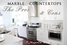 marble countertops the pros and cons of marble counters 11 magnolia lane