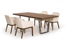 stainless steel dining room tables byron mid century walnut stainless steel dining table