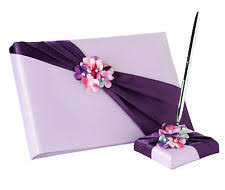purple guest book guest books pens in color purple ebay