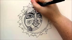 how to draw a celestial sun