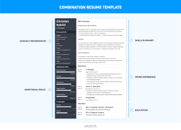 combination resume exles combination resume template 5 exles complete guide