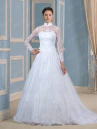wedding dress high neck vintage high neck lace sleeves sweep wedding dress