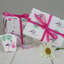 baby gift wrap new baby girl gift wrap by the blue owl