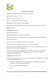 Mla Resume Minutes Of The Incose Brazil Dec 13 2010 Meeting
