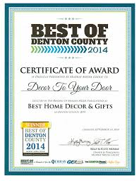 Best Home Gifts Our Awards Decor To Your Door Flower Mound Highland Village Tx