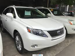 lexus rx 450h 2010 white full option triple beam side camera new