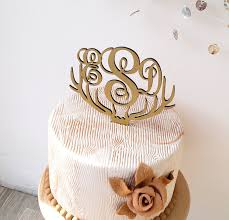 antler cake topper monogram wedding cake topper deer antler cake topper