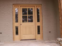 architecture modern design of entry door with sidelights in brown